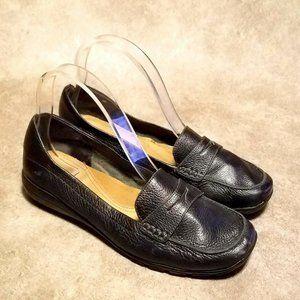 Easy Spirit Womens Arlings  Sz 7 W Black Loafers